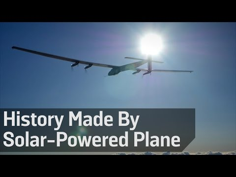 History Made By Solar-Powered Plane