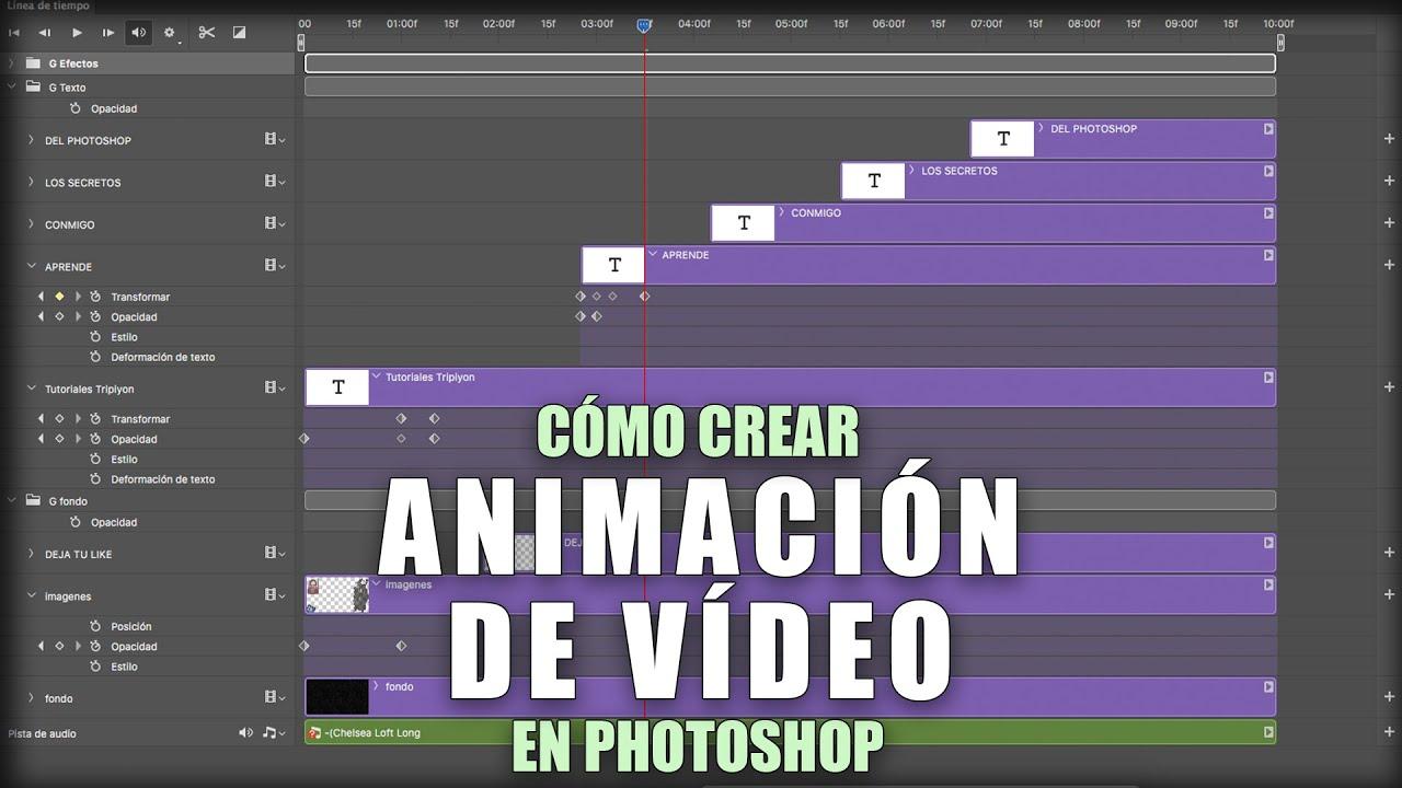 Cómo crear una animación de vídeo con Photoshop - YouTube