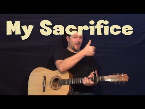 My Sacrifice (Creed) Easy Guitar Lesson How to Play Tutorial