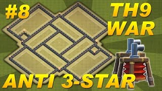 Clash of Clans -BEST Town Hall 9 (TH9) War Base ANTI 3-STAR