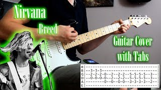 Nirvana - Breed - Guitar cover with tabs