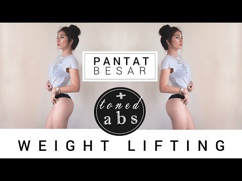 Membesarkan Pantat + Toned Abs 🍑🍑🍑 || Bikini Body Workout || Glutes Gym Day