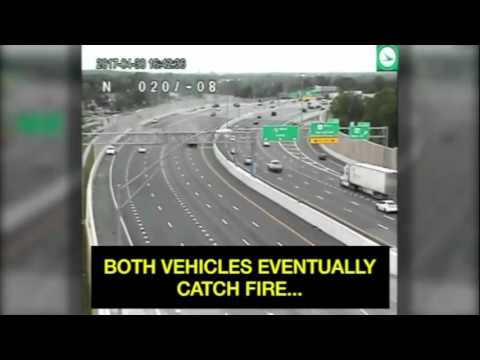 Dayton, OH I-75 explosion & crash full