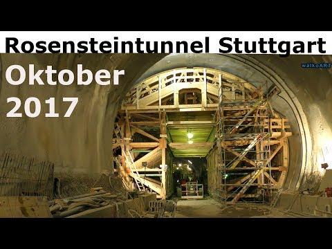 Straßenbauprojekt Rosensteintunnel B10 Stuttgart Okt. 2017 Tunnel construction Tunnelbau 2020 fertig