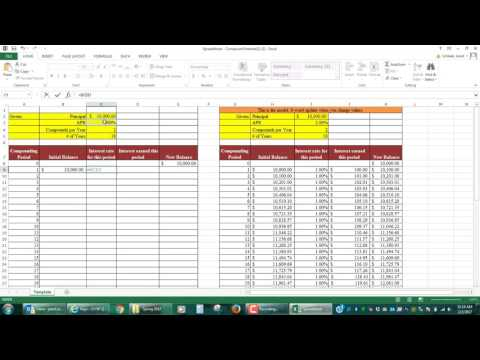 Step-by-Step Video of Compound Interest Spreadsheet