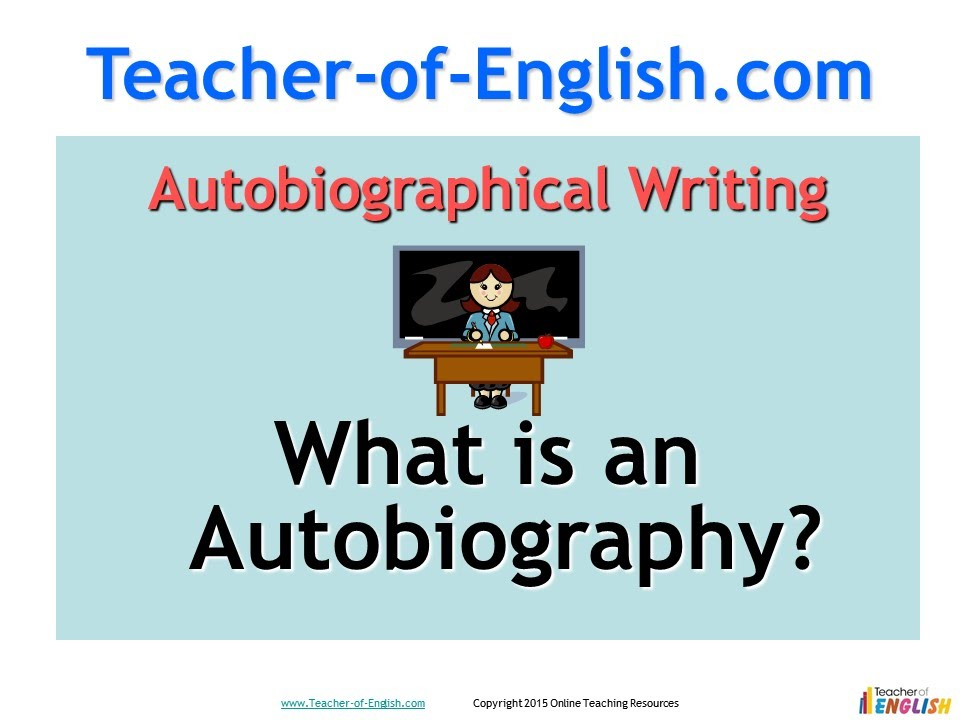 Autobiography teaching resources - PowerPoint lessons - YouTube