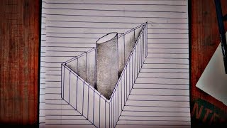 Drawing Pole in Tringal - 3D TRICK ART