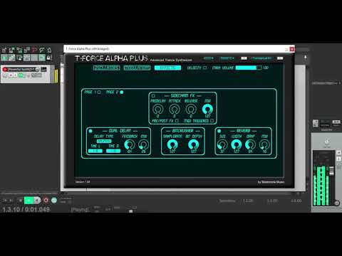 T-Force Alpha Yoh Synth Sound Dubstep Tutorial