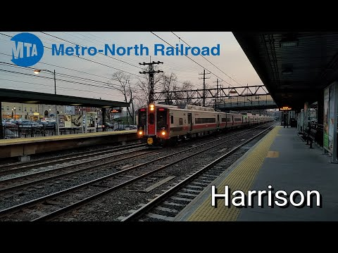 (Metro-North 4K) Late Afternoon M2/M8/P32AC-DM Action @ Harrison