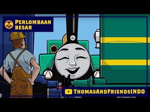Kereta Thomas & Friends Bahasa Indonesia - Perlombaan Besar Dekat & Jauh - Gina