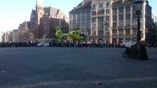 Traumahelikopter op de Dam
