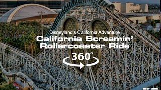 4k 360 video of the california screamin roller coaster