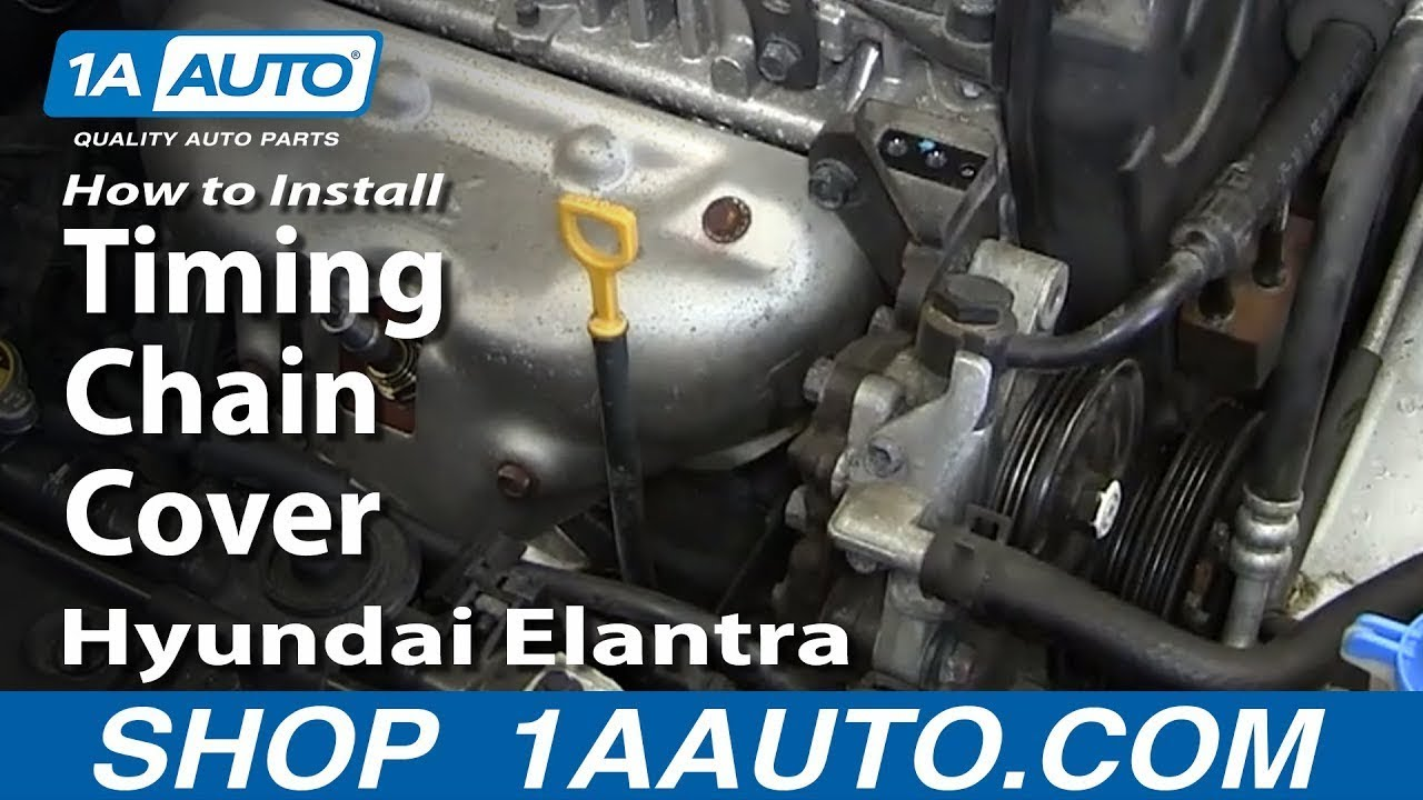 how to install replace timing chain cover hyundai elantra youtube. Black Bedroom Furniture Sets. Home Design Ideas