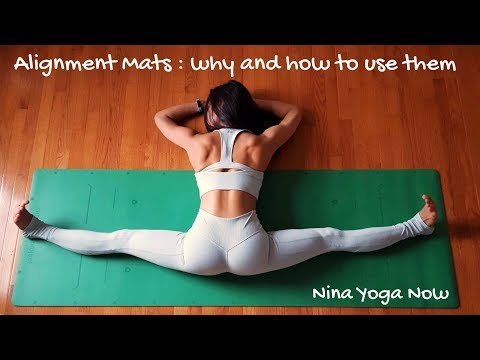 Alignment yoga mat: why and how to use them
