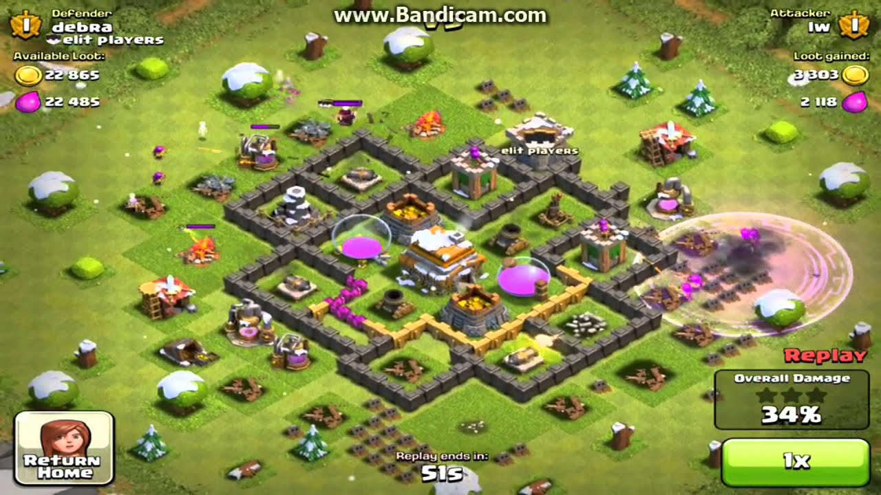 Clash of clans best th 6 base 1800 trophies youtube
