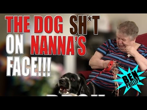 Thumbnail: My bros dog poo on Nana face! PRANK!