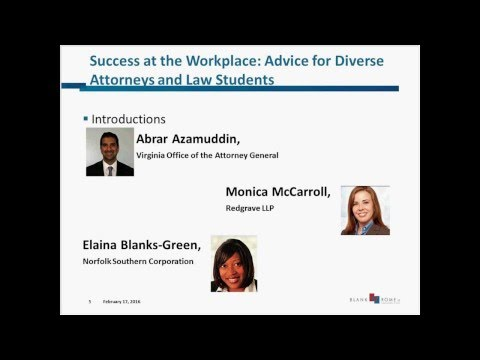 Success at the Workplace Advice for Diverse Attorneys and Law Students 20160217 1622 1 1