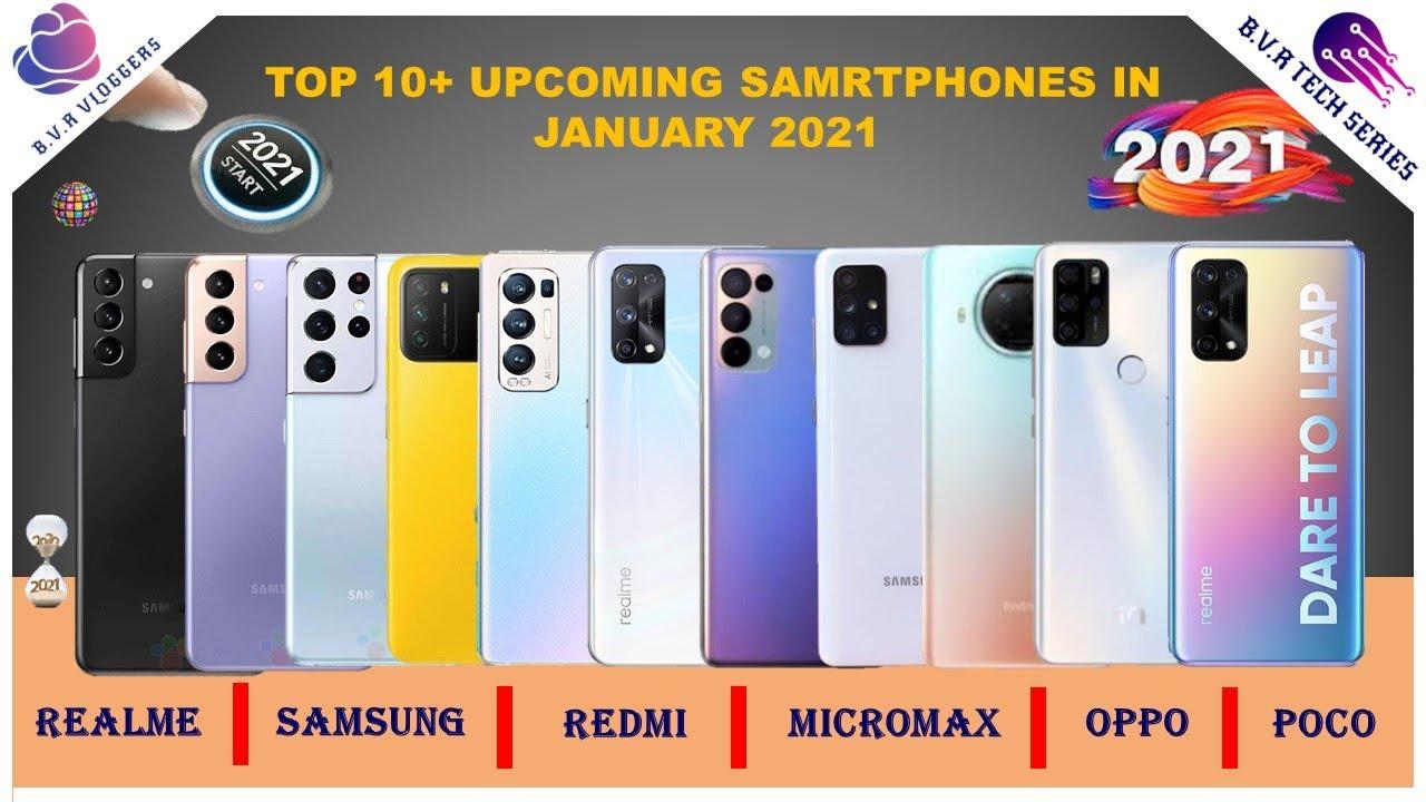 ?TOP 10+ UPCOMING SMARTPHONES 2021 II HAPPY NEW YEAR ?II OPPO POCO MI REALME SAMSUNG II BVR VLOGGERS