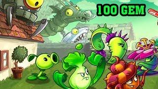 ✔️Dùng 100 Gem Mua Mảnh Nâng Cấp Nhiều Cây Plant Xịn | Plants Vs Zombies 2 | Hoa Quả Nổi Giận 2