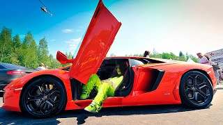 CELEBRITIES SHOW OFF THEIR SUPERCARS