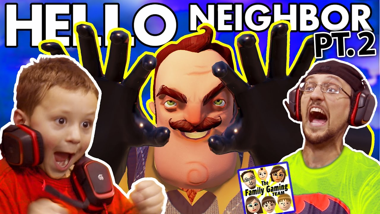 WE SCARED OUR BLIND NEIGHBOR!? FGTEEV Scary Hello Neighbor Kids Horror Game Part 2 (Alpha 2 ...