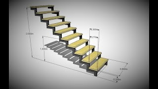 видео Лестница на второй этаж на косоурах