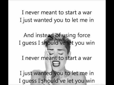 Miley Cyrus  Wrecking Ball Acapella + lyrics