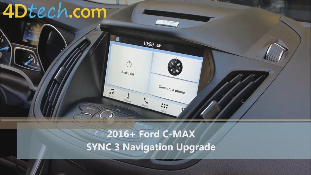 add factory navigation to sync 3 2016 ford c max youtube. Black Bedroom Furniture Sets. Home Design Ideas