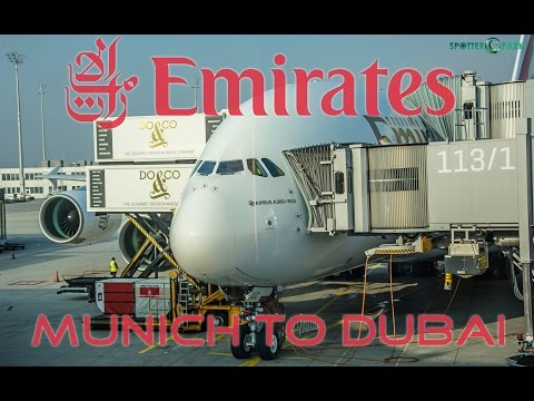 Emirates Flight Report Munich to Dubai | EK54 | Economy class | A380 |