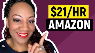 Earn $21 an Hour at Home with Amazon in 2019 - NOT Amazon Mechanical Turks