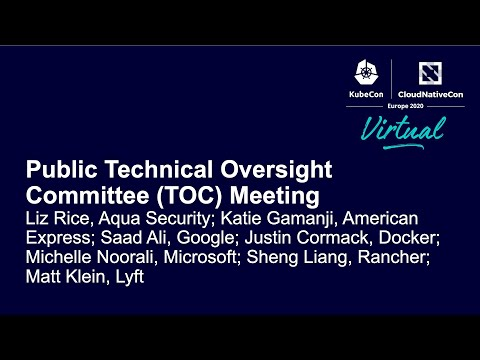 Public Technical Oversight Committee (TOC) Meeting –