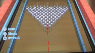 matt anna play wii sports resort 100 pin bowling