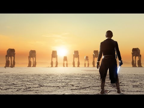 Unfinished Sunset Crait Map from The Last Jedi   Star Wars Battlefront II