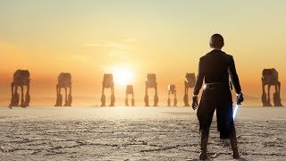 The Last Jedi Luke vs Kylo | Unfinished Sunset Crait Map | Star Wars Battlefront II