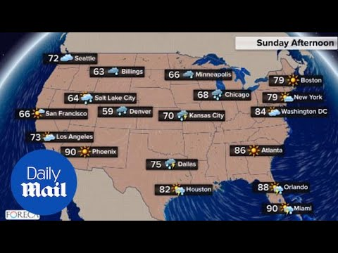 US national weather forecast for Memorial Day weekend - Daily Mail