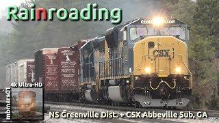 [6P][4k] Norfolk Southern and CSX Rainroading, GA 01/19/2019 ©mbmars01