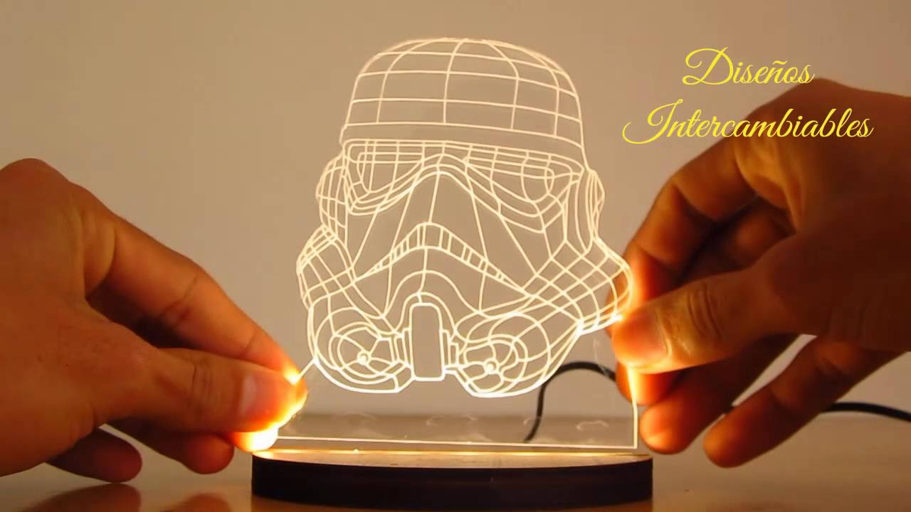 Lamparas led 3d youtube - Lamparas es ...