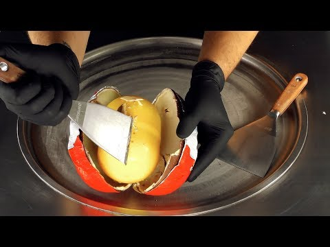 ASMR - Giant Surprise Egg Ice Cream Rolls | how to make fried Ice Cream with kinder Eggs - fast ASMR