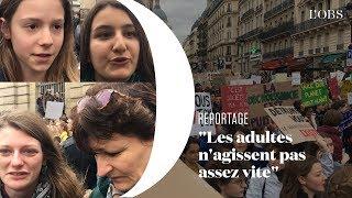 Des milliers de jeunes défilent à Paris pour la planète