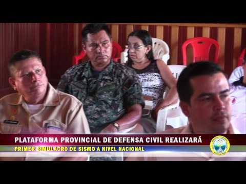 PLATAFORMA PROVINCIAL DE DEFENSA CIVIL  REALIZARÁ PRIMER SIMULACRO DE SISMO A NIVEL NACIONAL