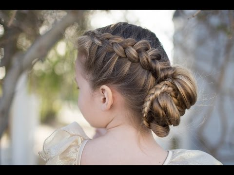 Dutch Braided Bun | Updo | Cute Girls Hairstyles