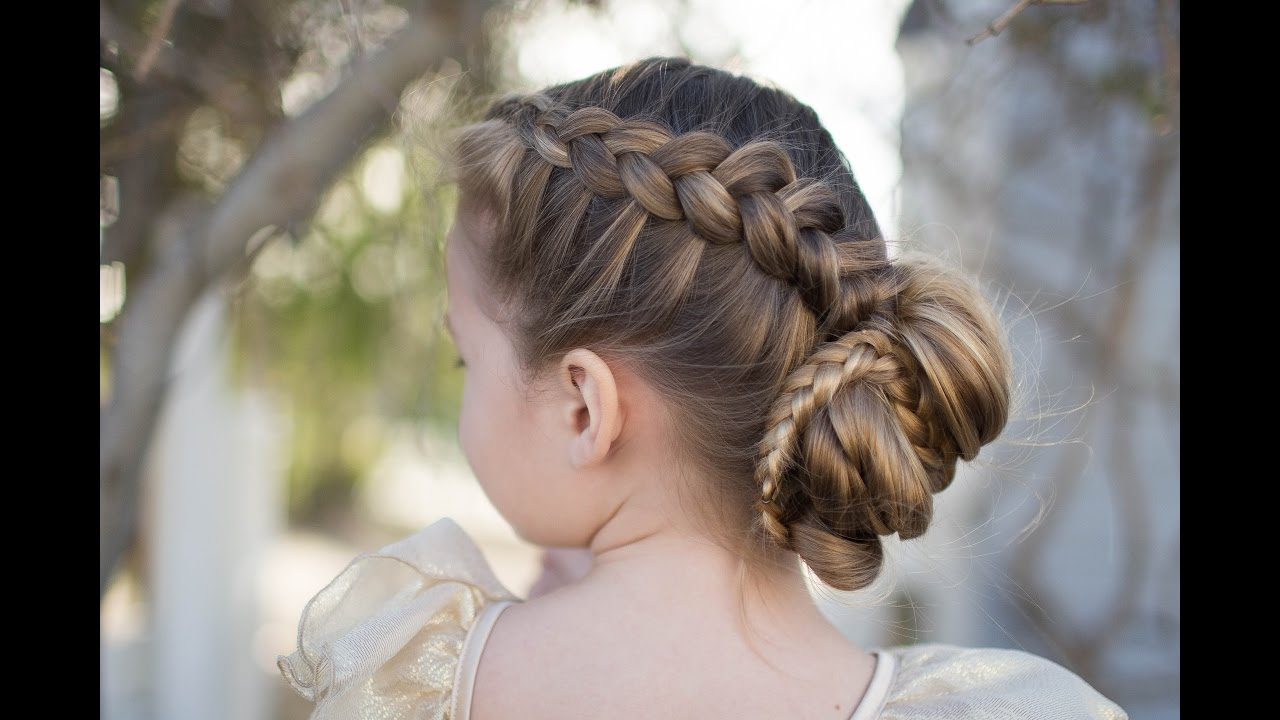 dutch braided bun updo cute