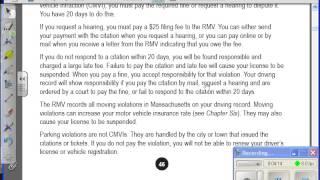 Керівництво штату Массачусетс водія читати вголос; глава 2-1