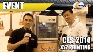 XYZ Printing Da Vinci 3D Printers @ CES 2014 - Newegg TV