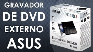 Gravador de DVD Externo Asus - Unboxing