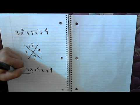 A Video On How To Factor A Trinomial Into Two Binomials