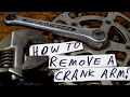 HOW TO REMOVE a CRANK ARM from an OLD ROAD BIKE!