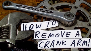 HOW TO REMOVE a CRANK ARM from an OLD ROAD BIKE! Video