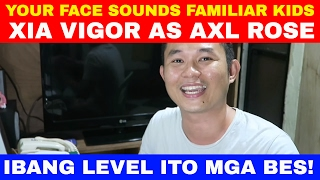 your face sounds familiar kids xia vigor as axl rose sweet child o mine reaction