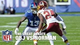Odell Beckham Jr. vs Josh Norman: Who Won the Matchup?  | The Great Debate | NFL NOW